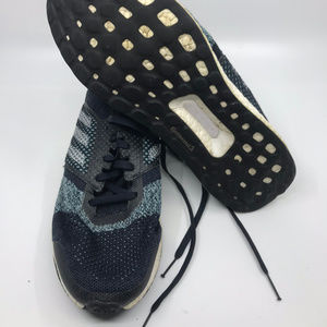 Adidas Ultra Boost Black Blue Sneakers Size 11.5